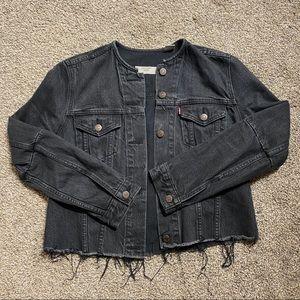 Levi's Altered Collarless Trucker Jacket